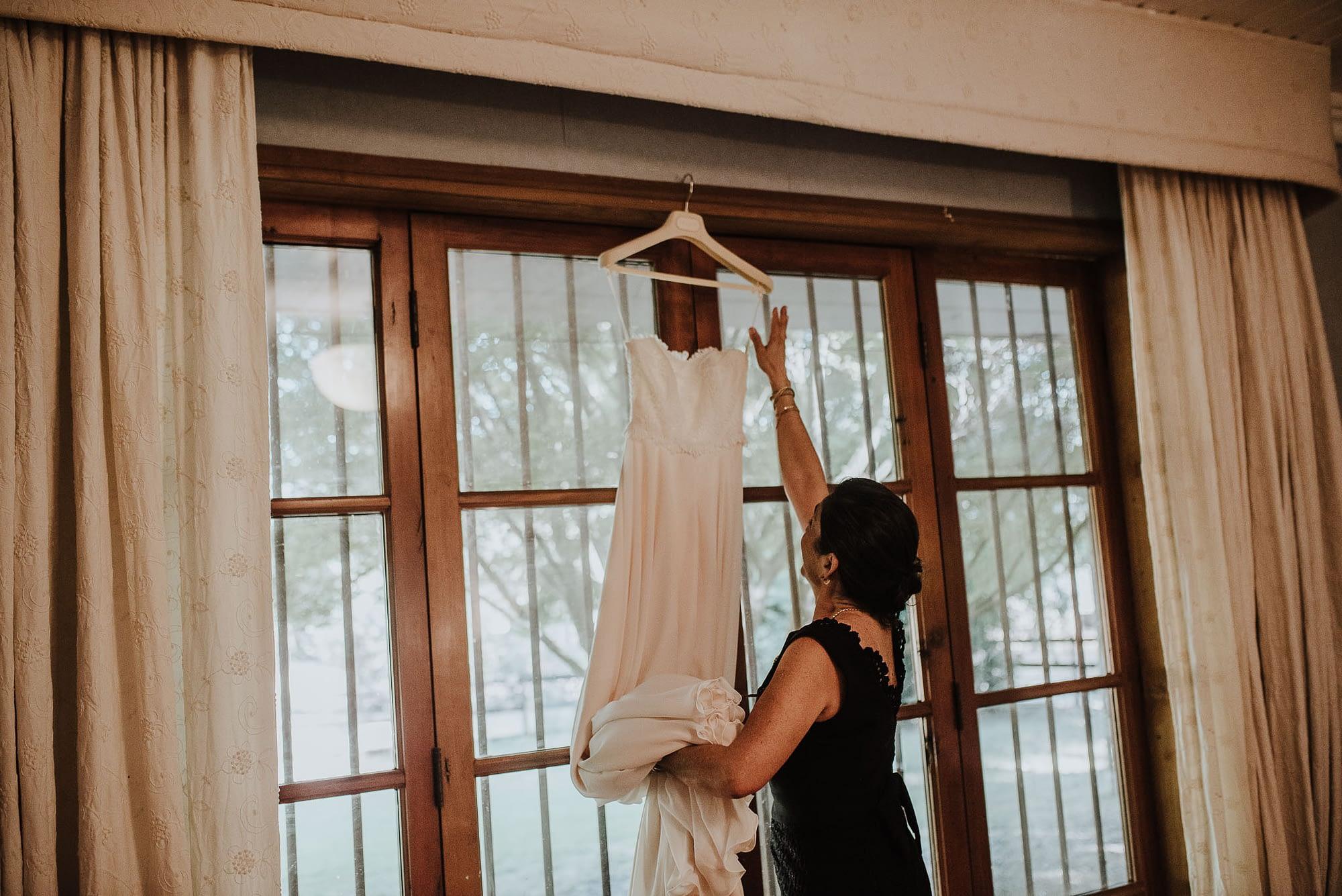 preparativos-novia-casa de campo fullervestido de novia
